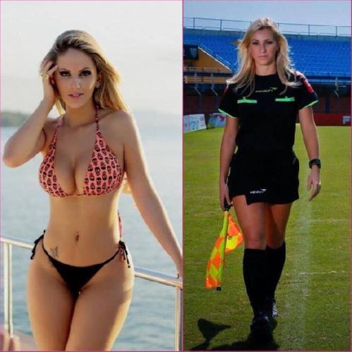 Futbolseverlerin ilgi odağı haline gelen kadın hakem Fernanda Colombo, Türkiye'den gelen evlilik teklifini eşine sordu.