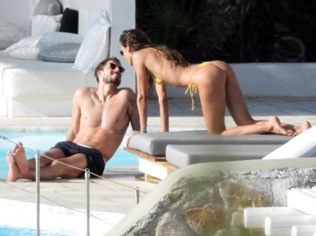 Süper model Izabel Goulart ve futbolcu sevgilisi Kevin Trapp, Mykonos'ta tatilin tadını çıkarıyor