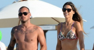 Sneijder, eşi Yolanthe ile anlaştı! 9 yıla 15 milyon euro ödeyecek!