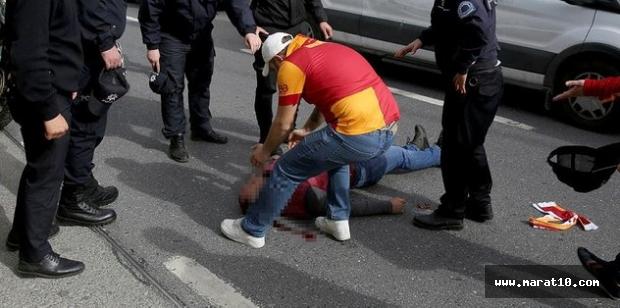 G.Saray taraftarı otobüsten düştü, ağır yaralandı!