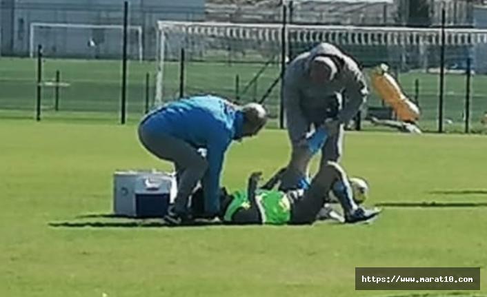 Trabzonspor'da korkutan sakatlık! Antrenmanı yarıda bıraktı