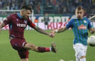 Trabzonspor Rize'yi 90. dakikada yıktı
